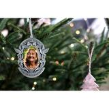 Fashion Craft Pewter Memorial Photo OrnamentMetal in Gray/Yellow, Size 3.0 H x 2.0 W x 0.25 D in | Wayfair 88094