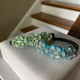 Anthropologie Accessories | Anthropologie Deepa Crystal Ponytail Holders | Color: Blue/Green | Size: Os