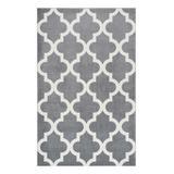 nuLOOM Indoor Rugs Gray - Gray Lattice Meeker Rug