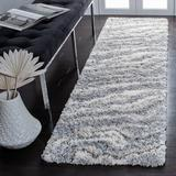 Mercer41 Foxborough Abstract Gray/Ivory Area Rug Polypropylene/Jute & Sisal in White, Size 27.0 W x 1.97 D in   Wayfair