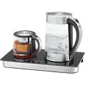ProfiCook Wasserkocher Silber, Schwarz 1.8 l Glas, Edelstahl 2200 W PC-TKS 1056