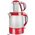 Bosch Wasserkocher Rot 0.7 l Glas, Edelstahl, Kunststoff 1500 W TTA 2010