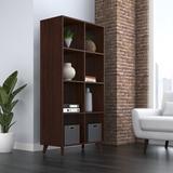 "HON BASYX 31"" W Cube Bookcase in Brown, Size 66.0 H x 31.0 W x 16.0 D in | Wayfair BSXCUBETMWMW"