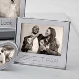 Mariposa Perfect Pair Signature Statement Picture Frame Metal in Gray, Size 7.2 H x 8.0 W x 0.79 D in | Wayfair 4400PP