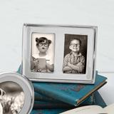 Mariposa Signature Picture Frame Metal in Gray, Size 3.9 H x 4.96 W x 0.79 D in   Wayfair 4505