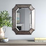 Three Posts™ Chana Accent Mirror Wood/Metal in Brown, Size 32.0 H x 24.0 W x 2.0 D in | Wayfair TRNT4081 43896398