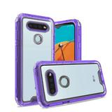 3 in 1 High Quality Transparent Snap On Hybrid Case, Purple/Clear For K51
