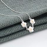 Necklace Pendant Tiny Water Lily Flowers Gold Blossom Pendant Necklace Jewelry Chain Necklace for Women Pendants Choker Pingente