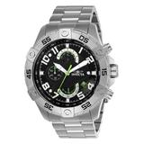 Invicta Men's Watches Steel - Stainless Steel & Black Chronograph Watch
