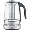 Sage Wasserkocher Silber, Schwarz 1 l Glas, Edelstahl 1400 W STM600CLR