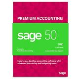 Sage Software Sage 50 Premium Accounting 2021 U.S. 2-User Small Business Accounting Software (2-Users)