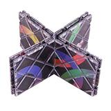 LoveIyPet Magic Folding Puzzle 8 Panels Professional 3D Puzzle Cube Twisty Classic Toys Brain Teaser Game for Kids Adult Toddler, Black