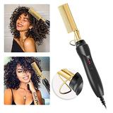 Hot Comb Electric, Professional Electrical Straightening Comb, High Heat Press Comb, Hot Comb Hair Straightener, Electric Heating Comb, Ceramic Comb Security Portable Curling Iron Heated Brush