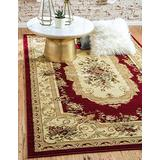 Unique Loom Versailles Collection Traditional Classic Burgundy Area Rug (10' 0 x 14' 0), Burgundy/Ivory