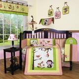 Zoomie Kids Fontaine Polka Dot 12 Piece Crib Bedding Set Cotton Blend in Green/Pink/Yellow   Wayfair ZMIE5566 42830598