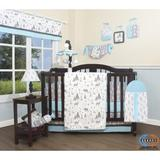 Harriet Bee Sunny Isles 12 Piece Crib Bedding Set Polyester/Cotton Blend in Black/Gray, Size 45.0 W in   Wayfair 3EF45740EB3D49B094870596F647E502