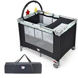 Costway Portable Baby Playard Playpen Nursery Center with Changing Station