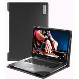 """Broonel - Profile Series - Black Leather Laptop Case - Compatible with The Dell Latitude 7410 14"""" Business Laptop or 2-in-1"""