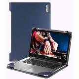 """Broonel - Profile Series - Blue Leather Laptop Case - Compatible with The Dell Latitude 5401 14"""" Business Laptop"""