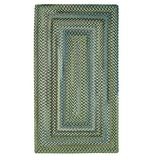 """American Heritage Sage 3' 0"""" x 5' 0"""" Concentric Rectangle Braided Rug"""