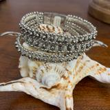 Anthropologie Jewelry | Anthropologie Bracelet | Color: Silver/White | Size: 7.5 Inches