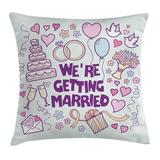 Ambesonne Wedding Happy Collection Doves Square Pillow CoverPolyester/Polyester blend in Blue, Size 18.0 H x 18.0 W x 2.0 D in | Wayfair