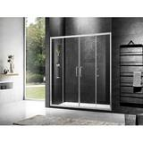 """MoSweet 66"""" W x 74"""" H Framed Shower Door Tempered Glass, Size 74.0 H x 66.0 W in 