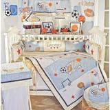 Zoomie Kids 19 Piece Crib Bedding Set Cotton/Cotton Blend in Blue/Brown/Red | Wayfair ZMIE4949 41568270
