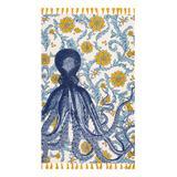nuLOOM Indoor Rugs Multi - Thomas Paul Blue Octopus Vernell Tassel Rug