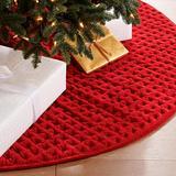 Rumi Velvet Tree Skirt - Crimson - Frontgate - Christmas Decorations