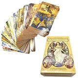 78PCS Full English Victorian Fairy Tarot Cards Board Game Card Game Playing Card Tarot Deck Cards for Party Entertainment