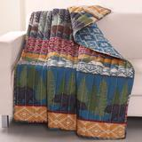 """Black Bear Lodge Quilted Throw Blanket by Greenland Home Fashions in Multi (Size 50"""" X 60"""")"""