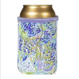 Lilly Pulitzer Kitchen   Insulated Can And Bottle Holder   Color: Blue/Green/Purple   Size: Os