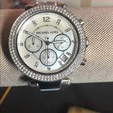 Michael Kors Accessories   Authentic Mk Pearl Face Watch   Color: Blue/Silver   Size: Os