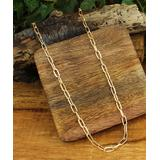 ZAD Women's Necklaces - Goldtone Oval Link Chain Necklace