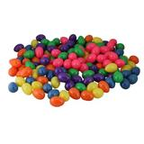 """Northlight Seasonal Pack of 150 Assorted & Colorful Springtime Easter Egg Decorations 2.5"""" Plastic, Size 2.5 H x 1.5 W x 1.5 D in 