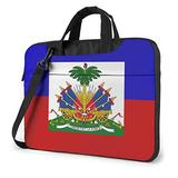 Haiti Flag (2) Laptop Bag 15.6 Inch Laptop Sleeve Case with Shoulder Straps & Handle/Notebook Computer Case Briefcase Compatible with MacBook/Acer/Asus/Hp