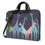 Colored Giraffe Laptop Bag 15.6 Inch Laptop Sleeve Case with Shoulder Straps & Handle/Notebook Computer Case Briefcase Compatible with MacBook/Acer/Asus/Hp
