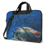 Giant Sea Turtles Laptop Bag 15.6 Inch Laptop Sleeve Case with Shoulder Straps & Handle/Notebook Computer Case Briefcase Compatible with MacBook/Acer/Asus/Hp