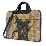 Egypt Anubis Laptop Bag 15.6 Inch Laptop Sleeve Case with Shoulder Straps & Handle/Notebook Computer Case Briefcase Compatible with MacBook/Acer/Asus/Hp