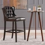 """Jennifer Taylor Home Virginia 30"""" Armless Wingback Tufted Counter Height Bar Stool, Vintage Brown"""