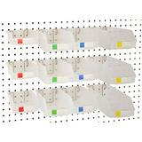 Pegboard Bins - Set of 12, Clear - Hooks to Any Peg Board - Organize Hardware, Accessories, Attachments, Workbench, Garage Storage, Craft Room, Tool Shed, Hobby Supplies, Small Parts…