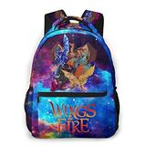 Fashion Fire Dragons Wings School Bags For Girls&Boys College School Teens Computer Bag Daypacks