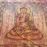 Urban Outfitters Wall Decor   Authentic Indian Buddha Tapestry Xl   Color: Gold/Orange   Size: Os
