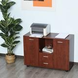 Latitude Run® Dalmazia 2 - Drawer Credenza Wood in Brown, Size 28.0 H x 39.25 W x 15.75 D in   Wayfair EA0FB9C56C8C47E8978A64FB2AB961F2