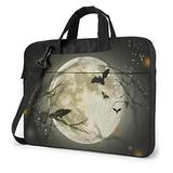 Cool Bat Crow Raven Full Moon Laptop Bag 15.6 Inch Laptop Sleeve Case with Shoulder Straps & Handle/Notebook Computer Case Briefcase Compatible with MacBook/Acer/Asus/Hp