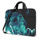 Cool Smoke Skull Laptop Bag 15.6 Inch Laptop Sleeve Case with Shoulder Straps & Handle/Notebook Computer Case Briefcase Compatible with MacBook/Acer/Asus/Hp