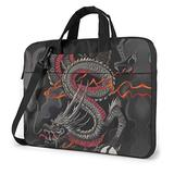 Black Red Chinese Dragon Dragon Ball Art Laptop Bag 15.6 Inch Laptop Sleeve Case with Shoulder Straps & Handle/Notebook Computer Case Briefcase Compatible with MacBook/Acer/Asus/Hp