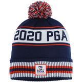 Women's Ahead Navy/Orange 2020 PGA Championship Custom Cuffed Knit Hat with Pom