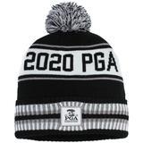 Women's Ahead Black/Gray 2020 PGA Championship Custom Cuffed Knit Hat with Pom